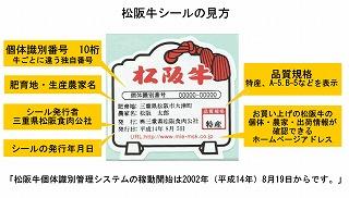 松阪牛シール